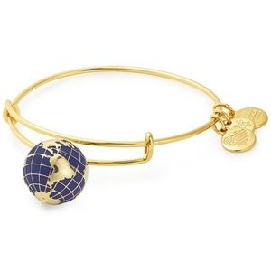 NWT Alex and Ani shiny gold globe bangle